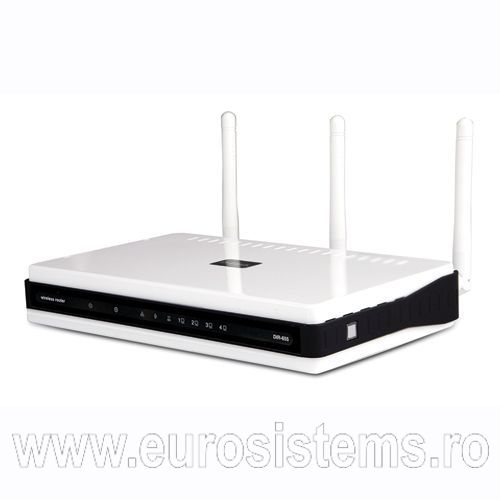 D-Link Router-Switch 4 porturi Gigabit Wireless N, DIR-655 - Apasa pe imagine pentru inchidere